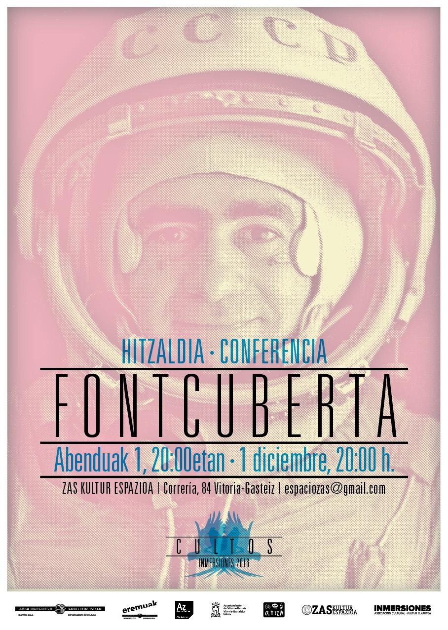 Joan Fontcuberta en ZAS espazioa. Hitzaldia – Conferencia. Abenduak 1, 20:00etan – 1 de diciembre, 20:00h.