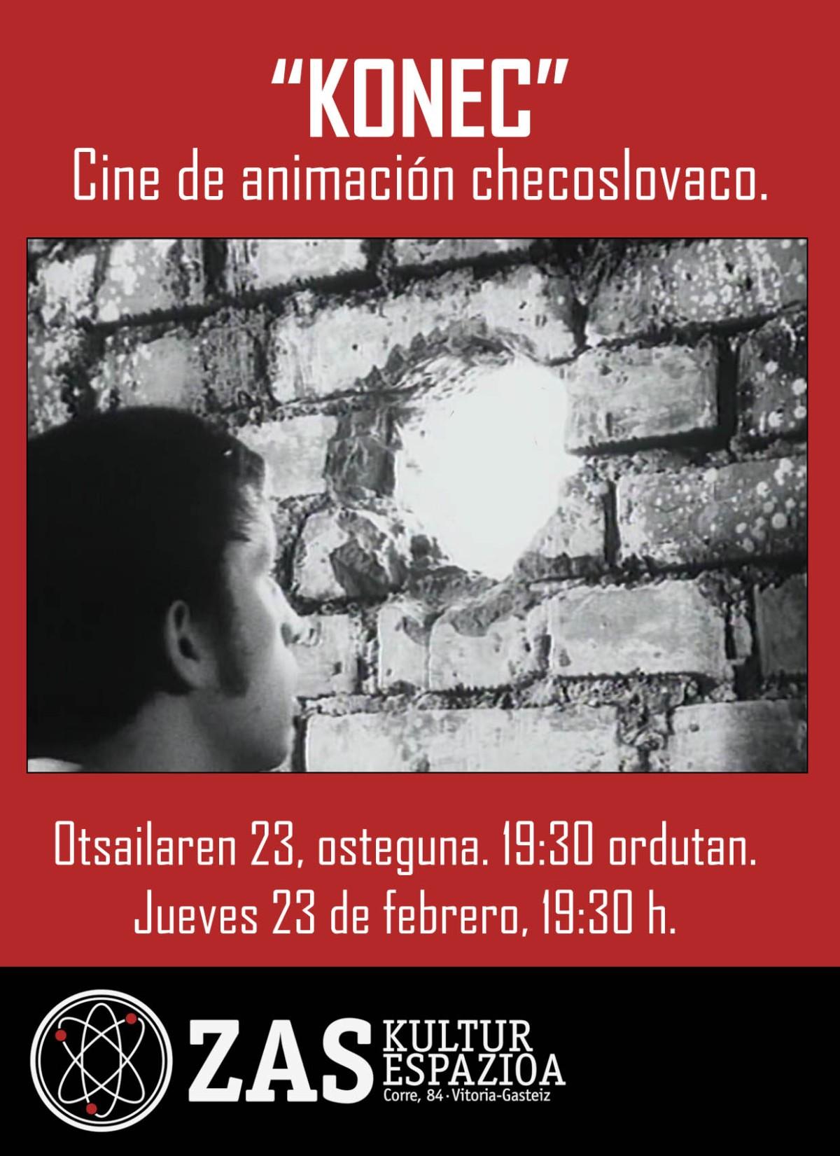"""""""KONEC"""": Proyección de cine de animación checoslovaco. Jueves 23 de febrero, 19:30h."""