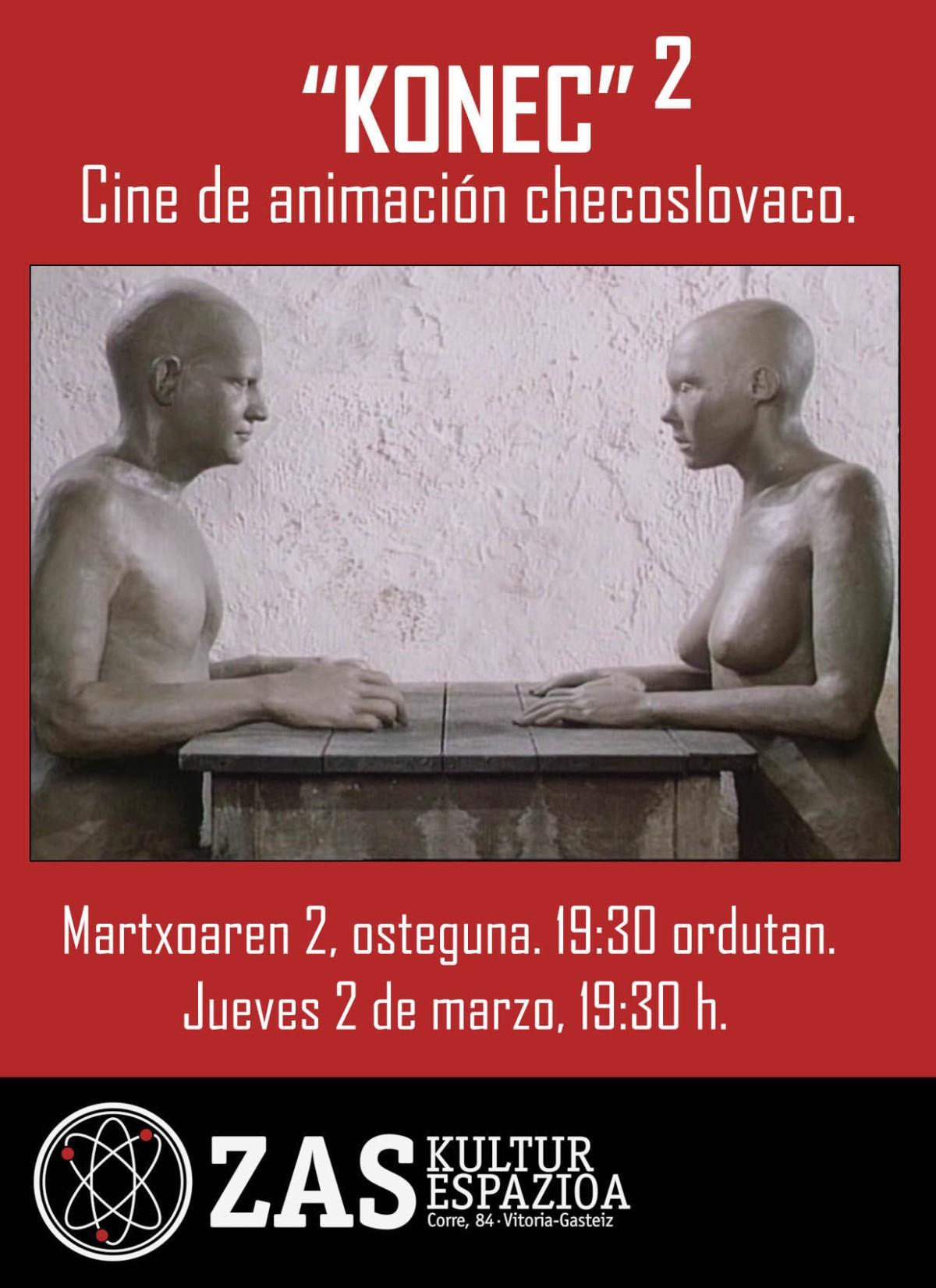 KONEC: Segunda sesión de proyecciones de cine de animaciónchecoslovaco.