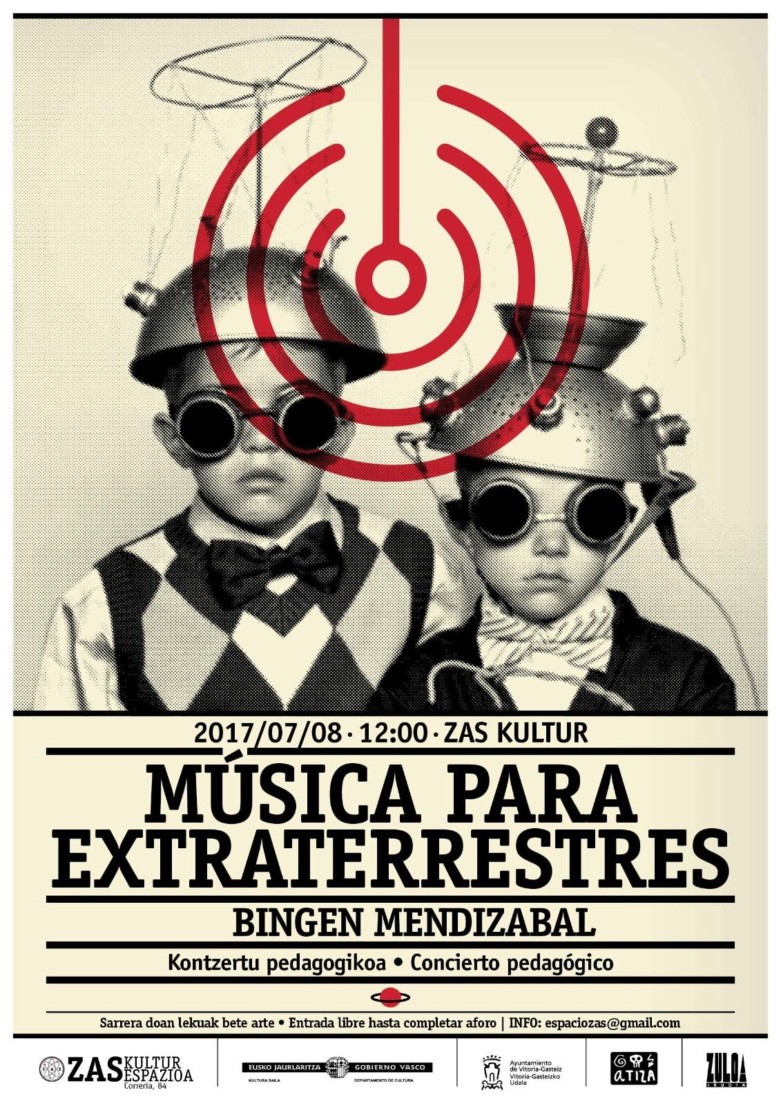 MÚSICA PARA EXTRATERRESTRES / Concierto-taller infantil de Theremín a cargo de BingenMendizabal