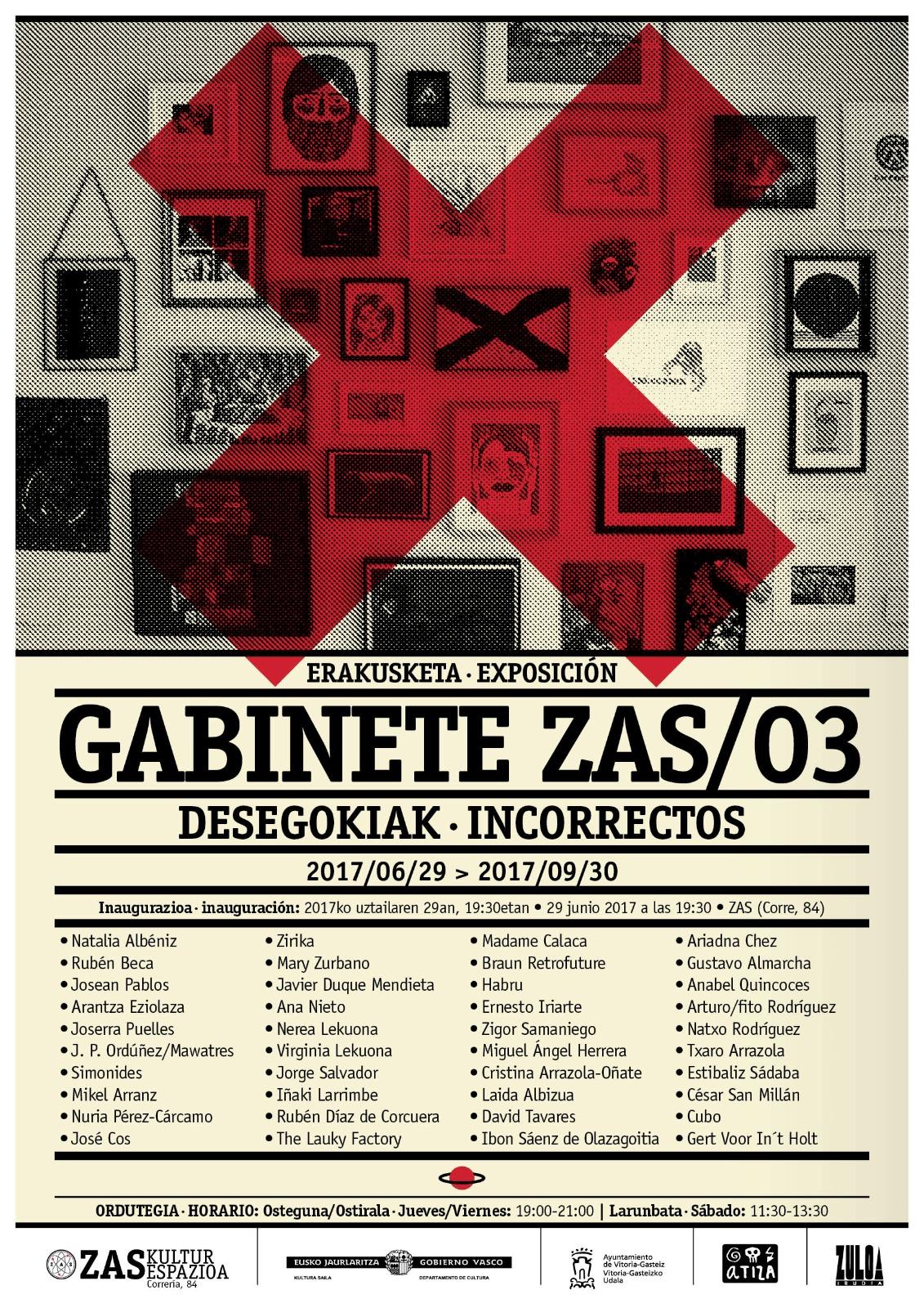 Inauguración / Gabinete Zas 03: Incorrectos /Inaugurazioa