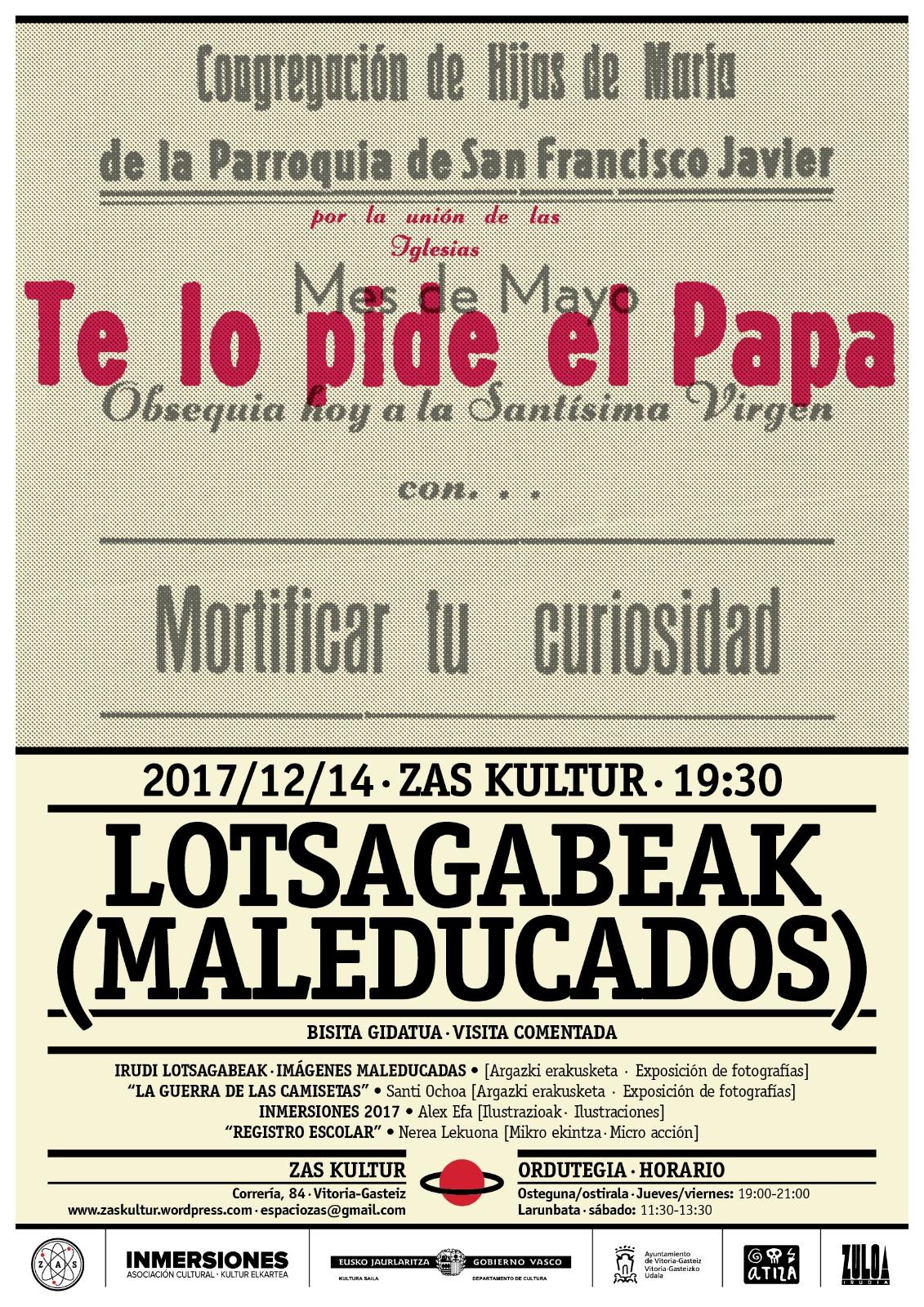 Visita Guiada Lotsagabeak-Maleducados